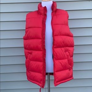 Old Navy red vest size small